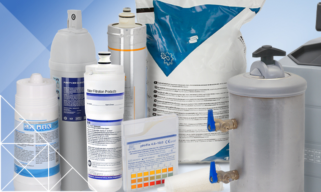 All the products you need for professional water filtration